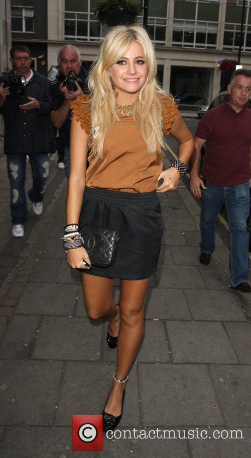 Pixie Lott arriving at Radio One