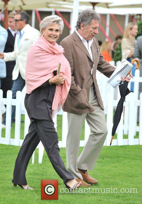 Angela Rippon Cartier International Polo Tournament held at...