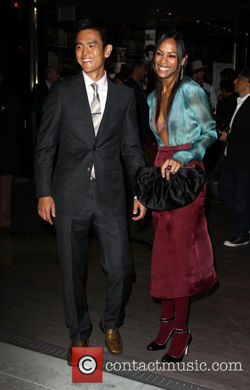 John Cho and Zoe Saldana 1