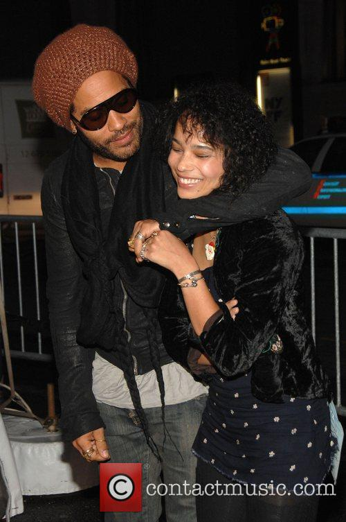 Lenny Kravitz and His Daughter Zoe Kravitz 3