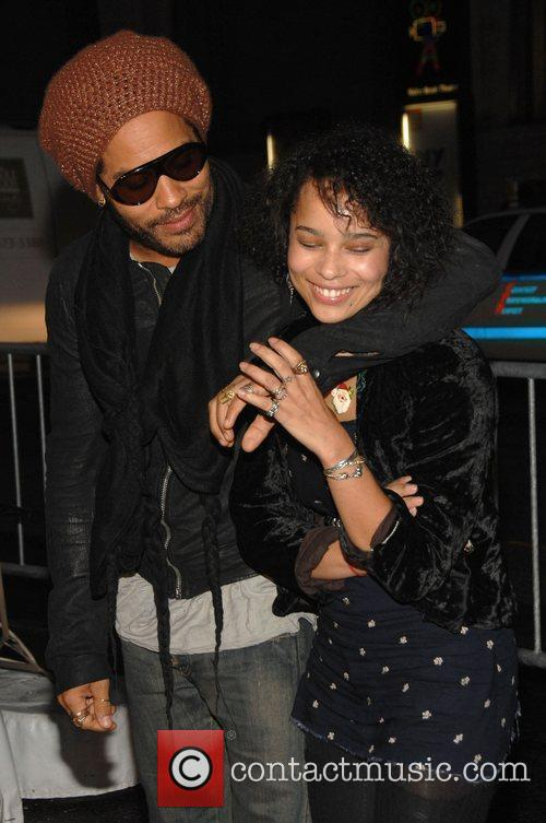 Lenny Kravitz and His Daughter Zoe Kravitz 2