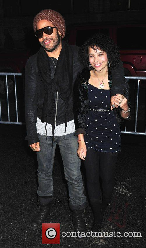 Lenny Kravitz and Daughter Zoe Kravitz 6