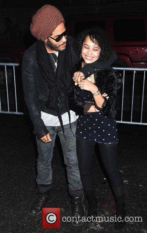 Lenny Kravitz and Daughter Zoe Kravitz 1
