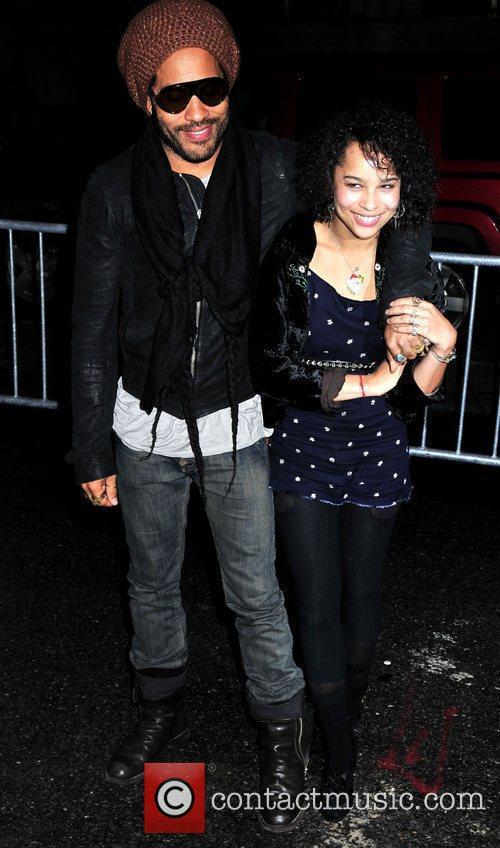 Lenny Kravitz and Daughter Zoe Kravitz 7