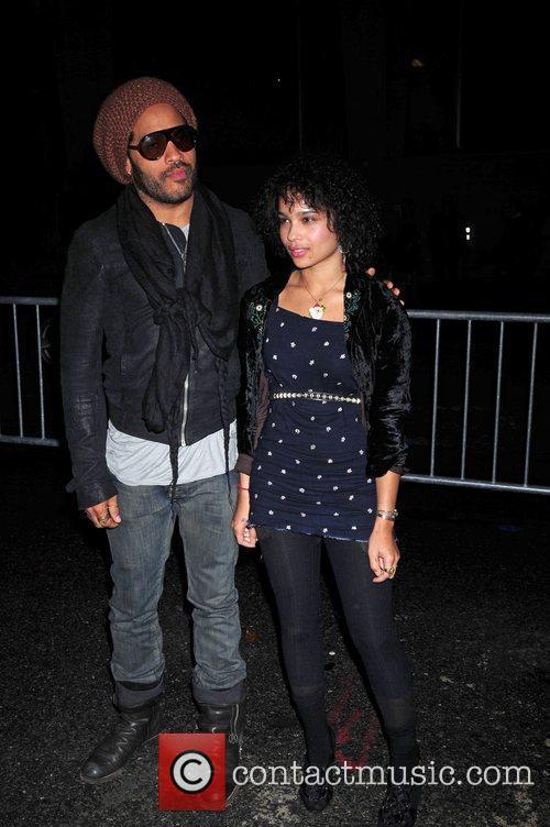 Lenny Kravitz and Daughter Zoe Kravitz 8