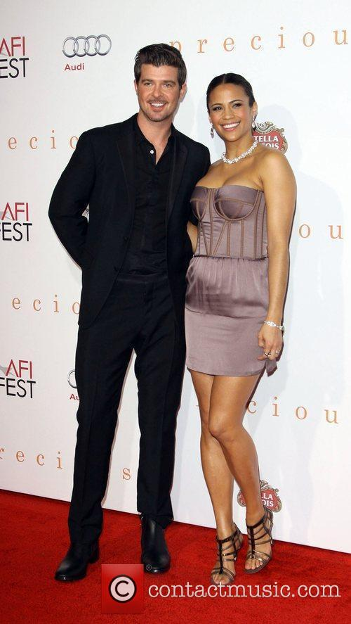 Robin Thicke and Paula Patton 2009 AFI Fest...