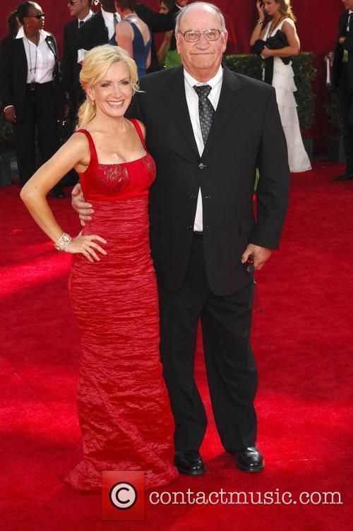 Angela Kinsey and father 61st Primetime Emmy Awards...