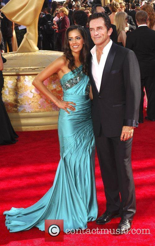 Jeff Probst and guest 61st Primetime Emmy Awards...