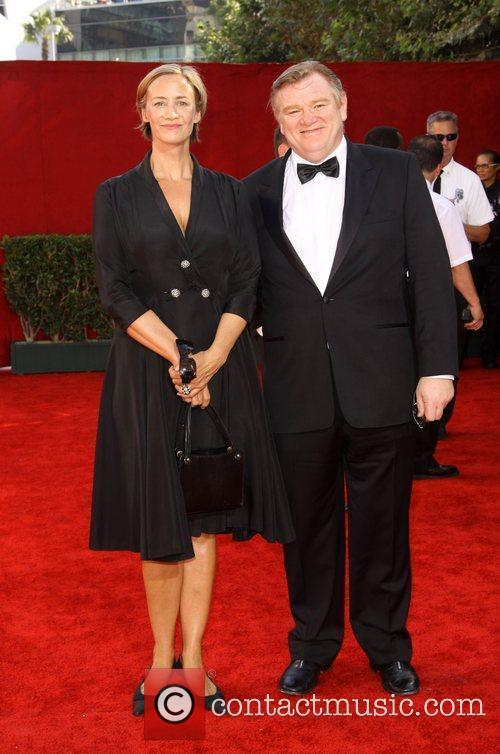 Brendan Gleeson and guest 61st Primetime Emmy Awards...