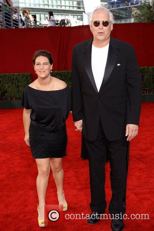 Chevy Chase and his wife 61st Primetime Emmy...