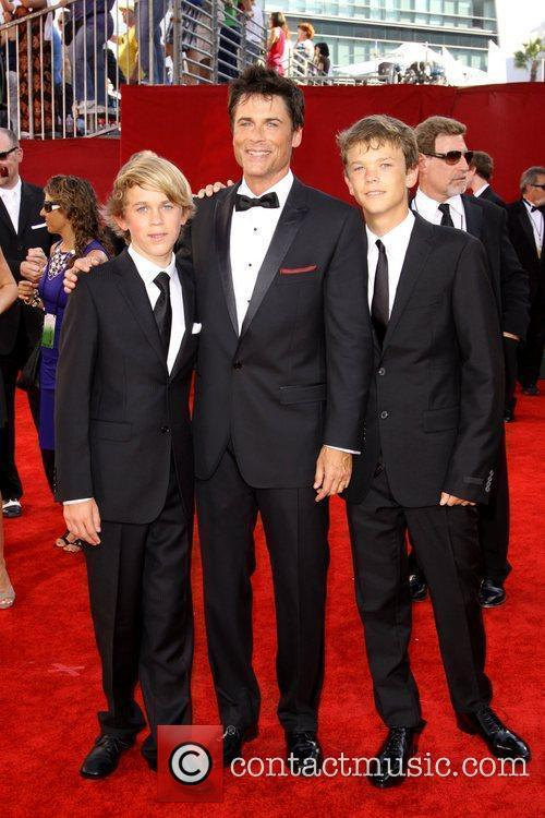 Rob Lowe with his sons Matthew Edward Lowe...