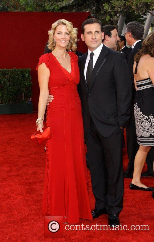 Steve Carell and wife Nancy Carell 61st Primetime...