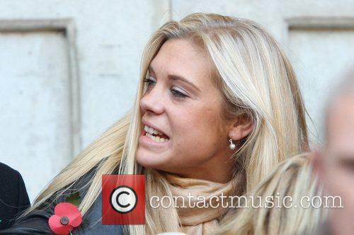 Chelsy Davy watches the Investec Challenge Series match...