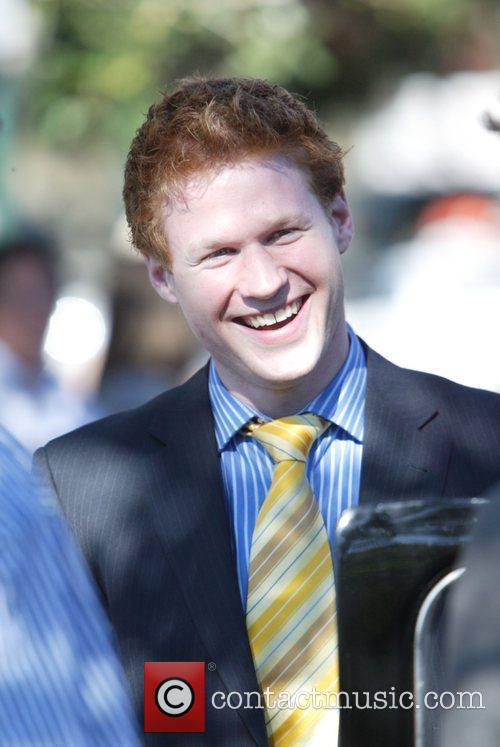A Prince Harry lookalike is filmed on the...