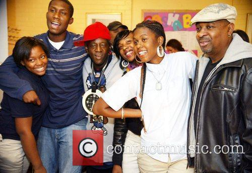 Flava Flav, Chuck D and Youth at the...