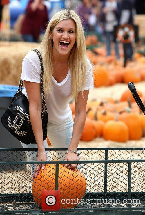 Ashley Roberts visits Mr. Bones Pumpkin Patch in...