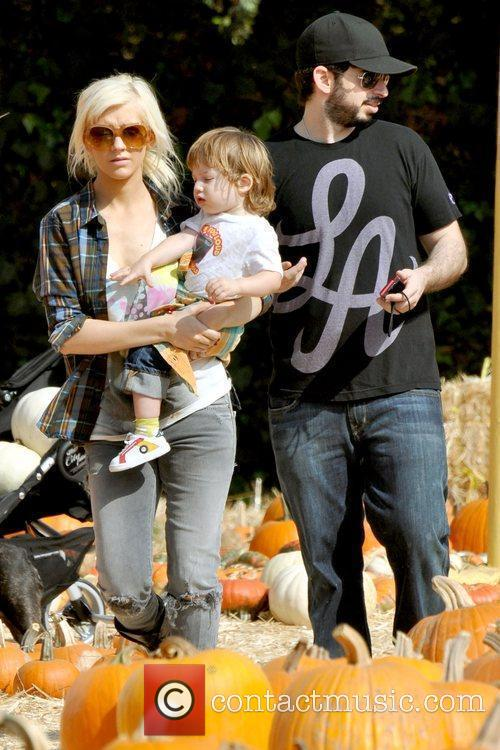 Christina Aguilera, son Max and Jordan Bratman visits...
