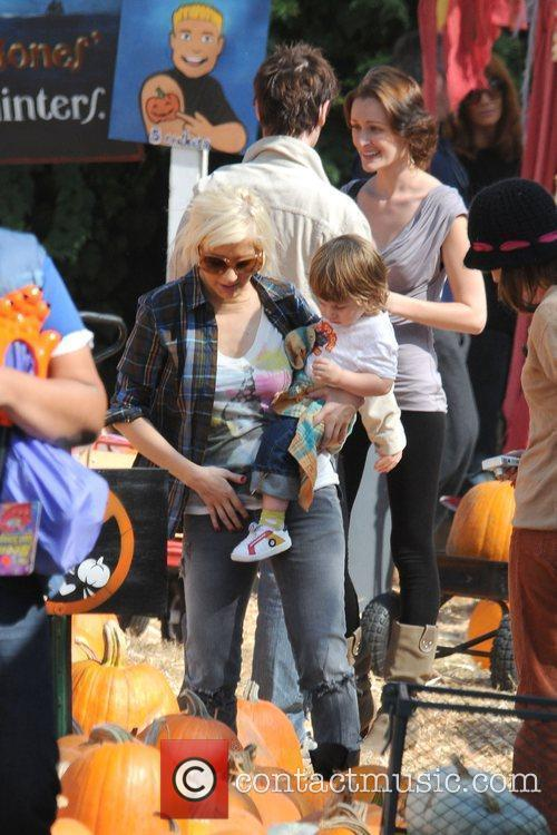 Christina Aguilera and son Max visit Mr. Bones...