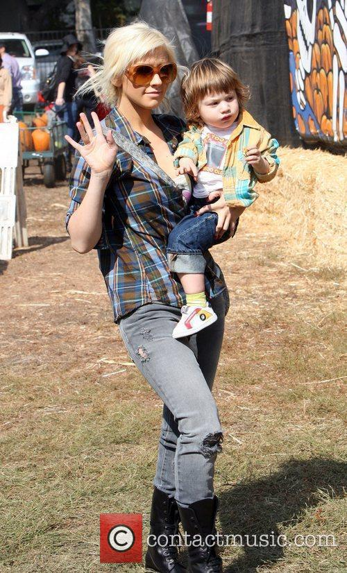 Christina Aguilera with their 21 month old son...