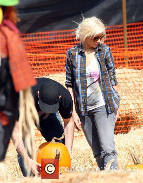 Christina Aguilera visit Mr. Bones Pumpkin Patch in...