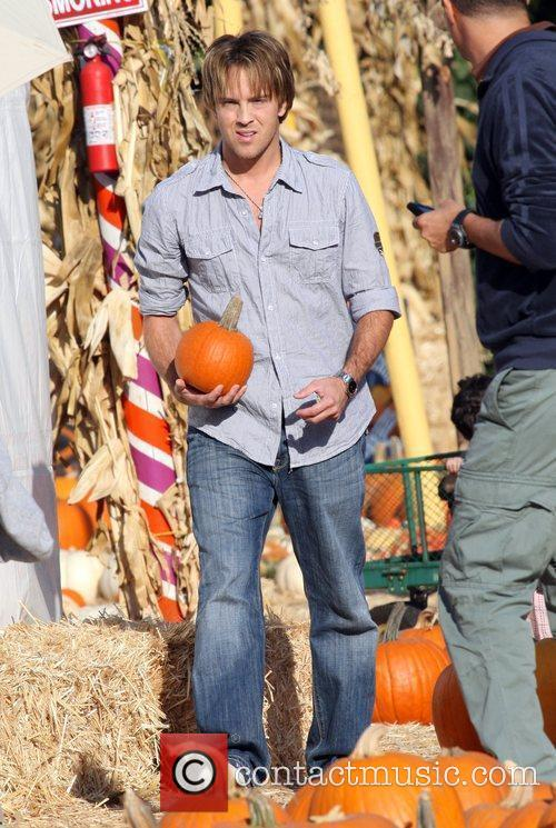 Larry Birkhead visits Mr. Bones Pumpkin Patch in...