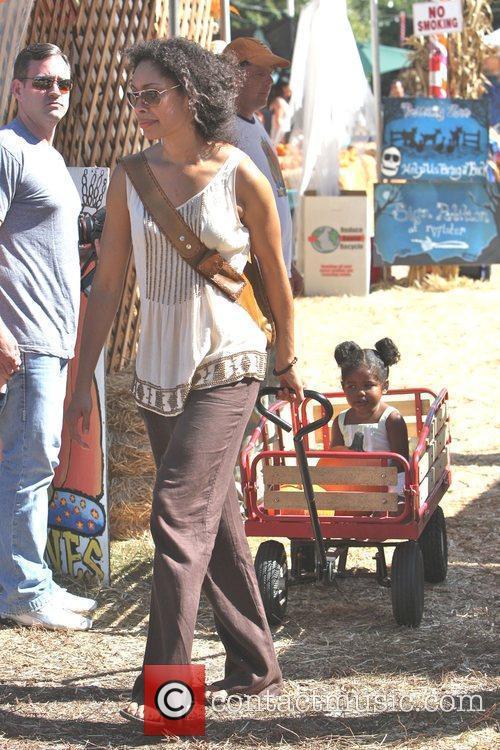 Gina Torres and daughter Delilah Fishburn visit Mr....