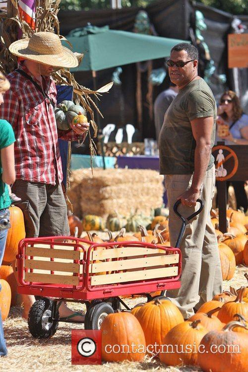 And his family visit Mr. Bones Pumpkin Patch...