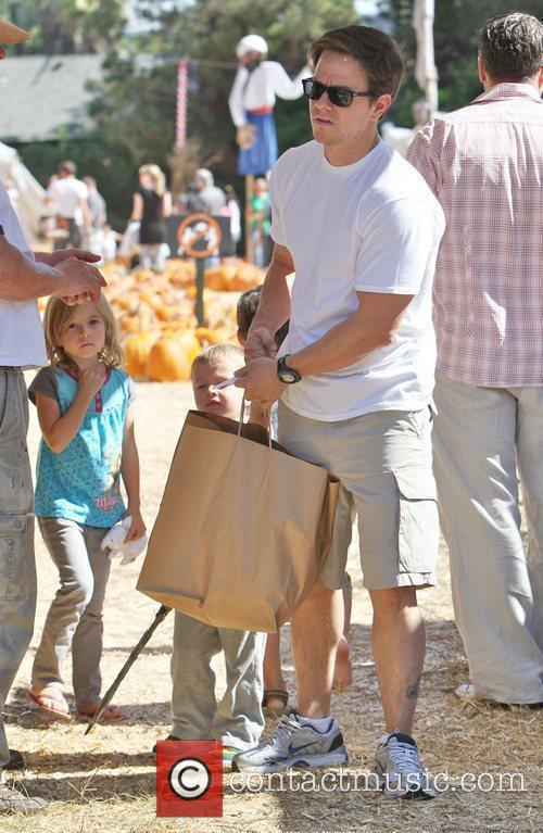 Mark Wahlberg with daughter Ella Rae and son...