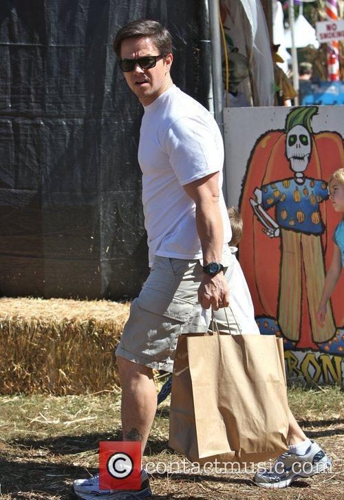 Mark Wahlberg visits Mr. Bones Pumpkin patch with...
