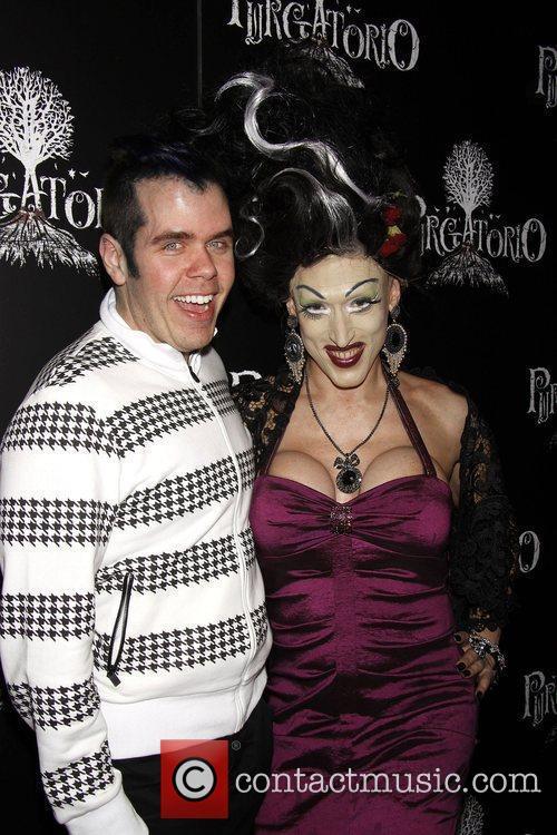 Perez Hilton and Mrs. Purgatorio Perez Hilton hosts...