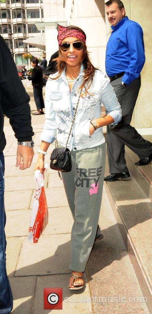Melody Thornton of the Pussycat Dolls departing her...