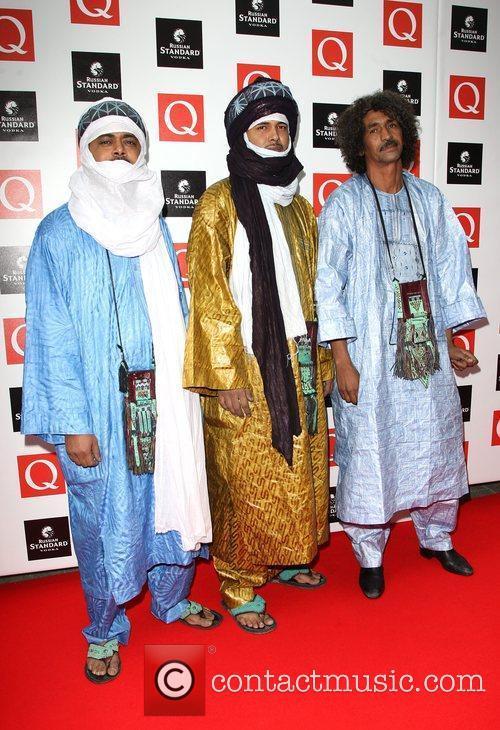 Ibrahim of Tinariwen The Q awards 2009 -...