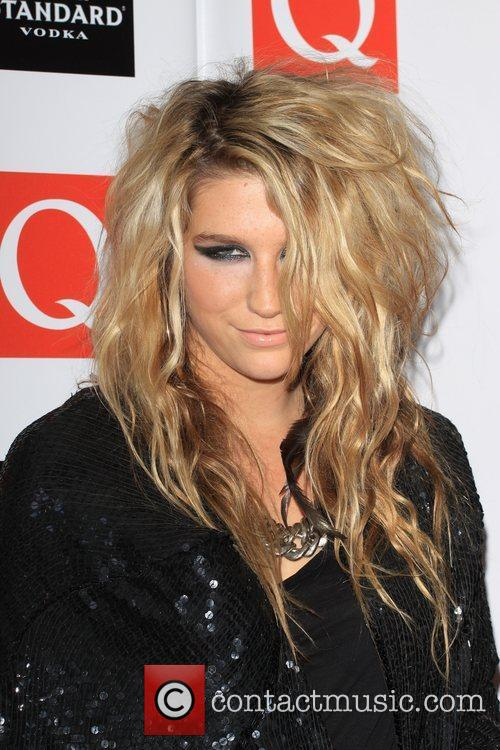 Kesha The Q awards 2009 - arrivals London,...