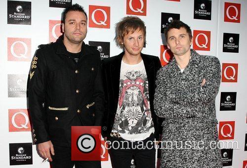 Christopher Wolstenholme, Dominic Howard and Matthew Bellamy of...