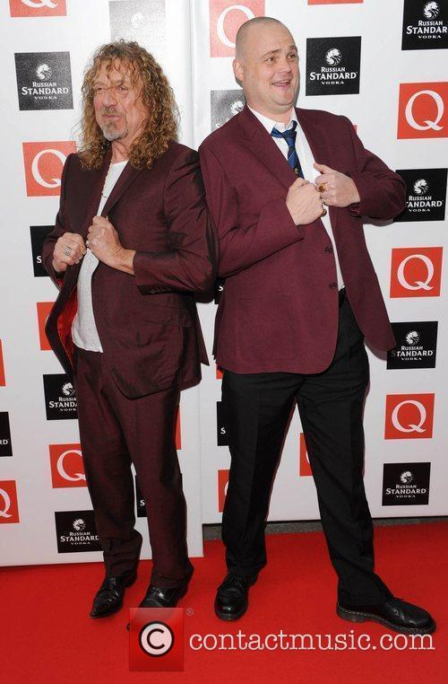 Robert Plant and Al Murray  at the...