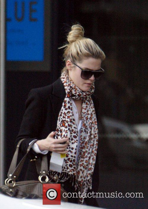 Australian actress Rachael Taylor leaves The Blue Hotel...