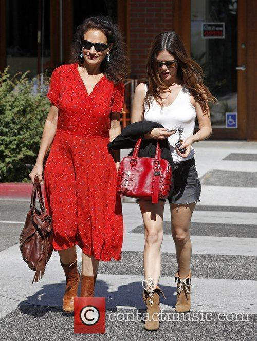 Janice Stango and Rachel Bilson leaving La Scala...