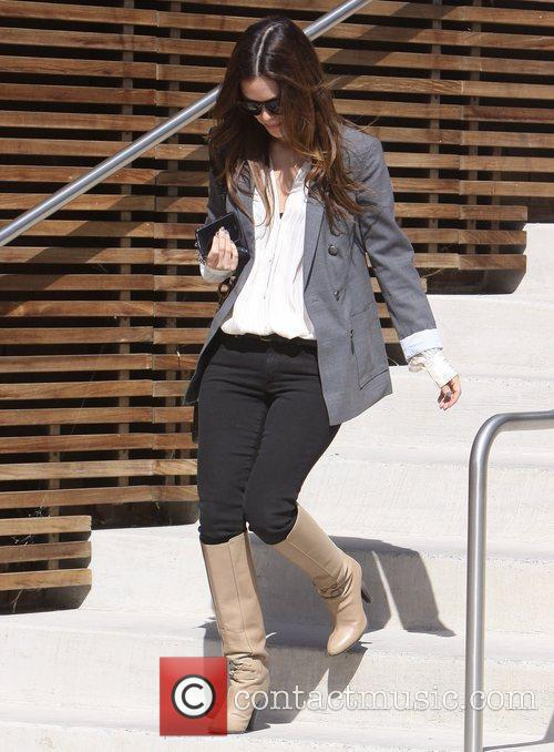Rachel Bilson leaving Tribeca West in Santo Monica