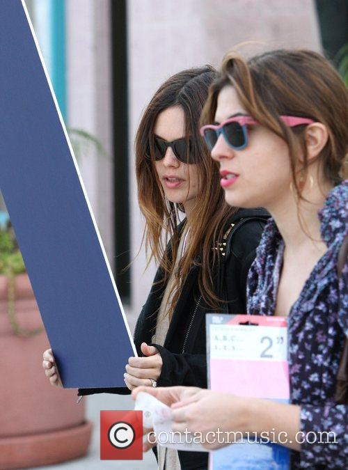 Rachel Bilson, a friend pick up miniature lights and other supplies at Michael's in Glendale 16