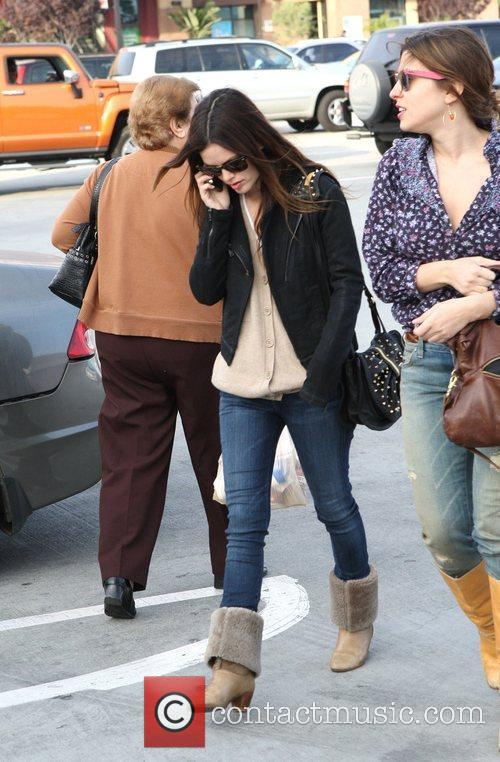Rachel Bilson, A Friend Pick Up Miniature Lights and Other Supplies At Michael's In Glendale 6