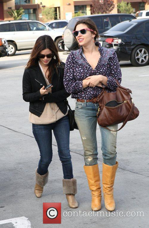 Rachel Bilson, a friend pick up miniature lights and other supplies at Michael's in Glendale 15