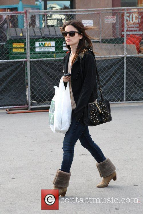 Rachel Bilson, A Friend Pick Up Miniature Lights and Other Supplies At Michael's In Glendale 11