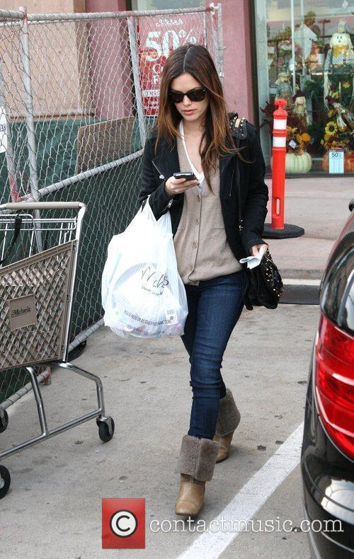 Rachel Bilson, a friend pick up miniature lights and other supplies at Michael's in Glendale 12