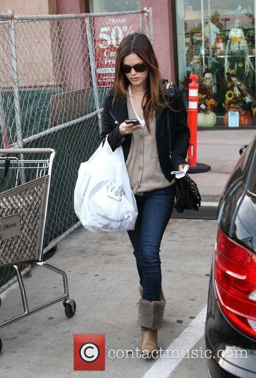 Rachel Bilson, a friend pick up miniature lights and other supplies at Michael's in Glendale 14