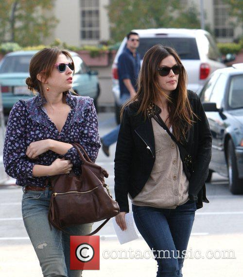 Rachel Bilson, A Friend Pick Up Miniature Lights and Other Supplies At Michael's In Glendale 9