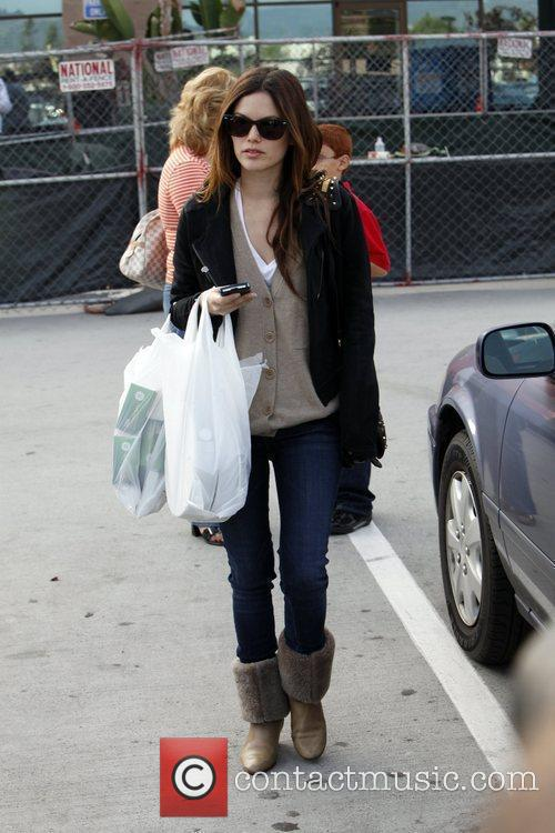 Rachel Bilson, a friend pick up miniature lights and other supplies at Michael's in Glendale 26