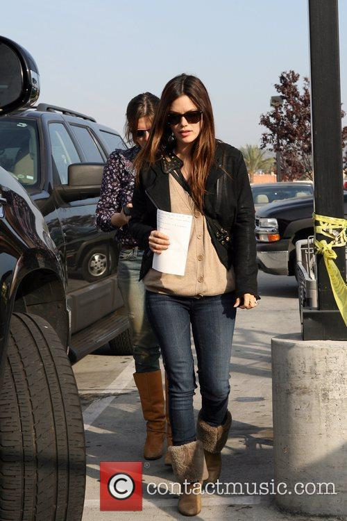 Rachel Bilson, A Friend Pick Up Miniature Lights and Other Supplies At Michael's In Glendale 1