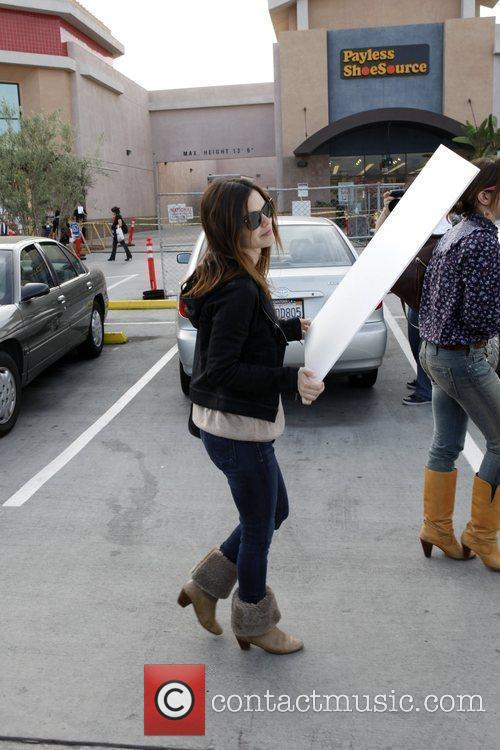 Rachel Bilson, a friend pick up miniature lights and other supplies at Michael's in Glendale 18