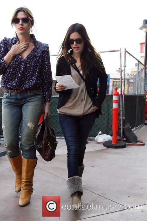Rachel Bilson, a friend pick up miniature lights and other supplies at Michael's in Glendale 24