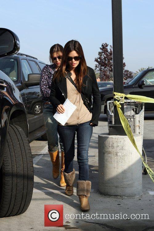 Rachel Bilson, a friend pick up miniature lights, other supplies at Michael's in Glendale